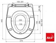 WC ülőke >Alca 603<